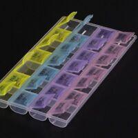 New 28 Slots 7 Day Pill Box Medicine Tablet Dispenser Organiser Weekly AM PM UK