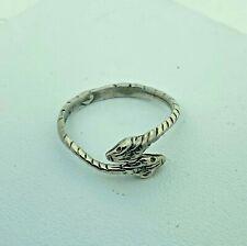 Anello Romeo argento  con serpenti fatto a mano