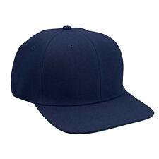 Hip Hop BBOY Flat Bill Baseball Hat Cap Navy w/Green Undervisor HIGH QUALITY-