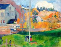 Landscape in Brittany-The David Mill by Paul Gauguin 60cm x 46.5cm Art Print