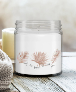 Hand poured Tropical Palm leaf Soy Candle in a jar. Comes w Lid & Made in USA.