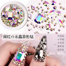 1Set AB Crystal Rhinestones Diamonds Gems Glass 3D Nail Art Decor Supply
