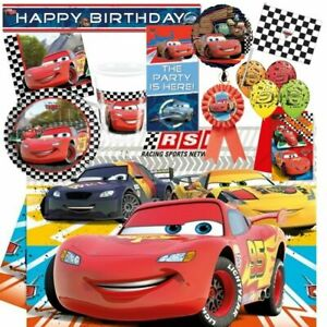 Disney CARS 3 Theme Party Supplies Birthday Party Range Tableware Decorations