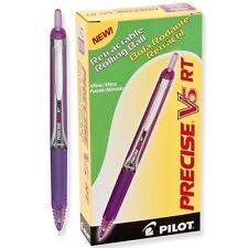 Pilot V5 RT Retractable Rolling Ball, Extra Fine, Purple (PIL 26066) - 12/pk