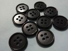 Abrigo Chaqueta Grueso Grano de madera de 4 botones de agujero negro azul púrpura 18mm 20mm 23mm