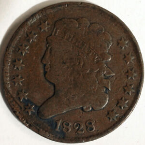1828 US Half Cent Penny Estate Unsorted As Found