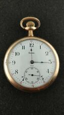 VINTAGE 16 SIZE TAVANNES SWISS POCKET WATCH RUNNING AND KEEPING TIME