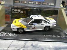 OPEL Manta B 400 Rallye 1984 #3 Frequelin Tour de Corse C Laure IXO altaya 1:43