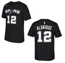 6b31b341d adidas LaMarcus Aldridge San Antonio Spurs Black Net Number T-shirt - NBA L