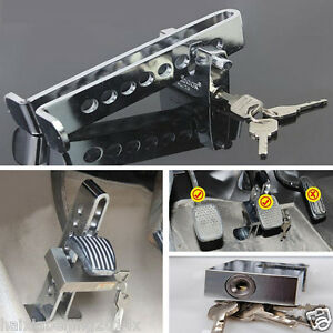 Alloy Steel Anti-Theft Security Device Car Suv Clutch Brake Accelerator Rod Lock