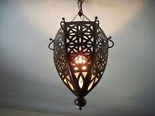 lustre plafonnier marocain fer forgé lampe orientale lanterne applique luminaire