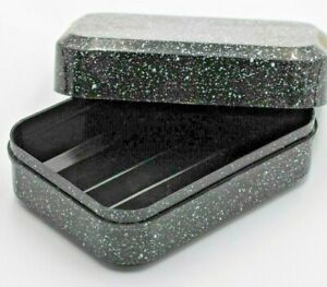 Black Soap Box Dish Holder container case travel holiday caravan campin reusable