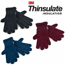 Ladies Thermal Winter Polar Fleece Gloves 3M Thinsulate Lined 40G Womens Adult