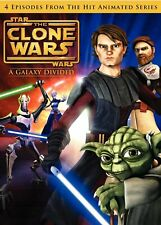 Star Wars Clone Wars - A Galaxy Divided  + Exclusive     (DVD)   **Brand New**