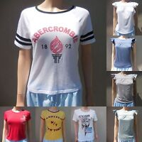 ABERCROMBIE & FITCH WOMEN T SHIRTS ALL SIZES NWT red white yellow blue green NEW
