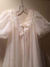 Vintage ROVEL GRAND SWEEP BRIDAL Peignoir & Nightgown SET cream small
