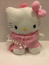 Sanrio Hello Kitty Backpack Purse Plush Pink White