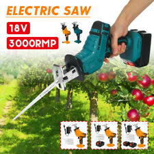 Powerful Cordless Electric Reciprocating Saw Wood Metal Cutting+Battery&Blades