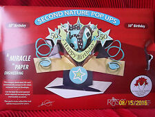 50th Birthday Card 3 D  Pop Up Greeting by RUSS ~ Cake Topper ~ Centerpiece  NIB