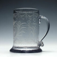 Czech/Bohemia Glass Clear Engraved