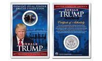 DONALD J. TRUMP  1-20-2017 INAUGURATION JFK Half Dollar Coin in PREMIUM HOLDER