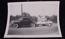 VINTAGE PIC OF CAR TOWING A BOAT COCA COLA SIGN IN BACK RND PHOTO PHOPTGRAPH PIC