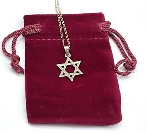 Vintage 12k Gold Star of David Charm Pendant on 18 in 12k Gold Chain