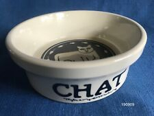 Vintage Ceramic Taylor Ng Cat & Mouse Bowl Chat Dish Blue Stoneware 1970s French