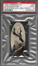 PSA 9 1934 CARRERAS LTD. FILM STARS W/O REAL PHOTO #40 JOAN CRAWFORD