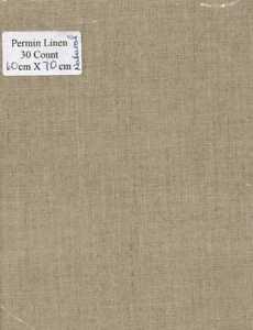 Permin 30 count Linen - Colour  :   Natural