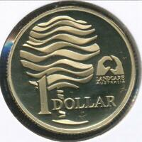 Australia, 1993 One Dollar, $1, Elizabeth II (Landcare) - Proof