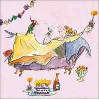 Quentin Blake As A Parrot Happy Birthday Greeting Card Square Humour Range Cards