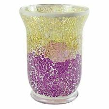 Yankee Candle Jar Candle Holder Purple & Gold Smashed Mosaic Large Jar