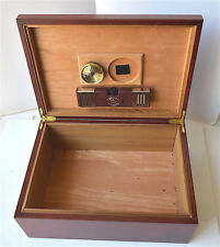 Red Wood, Cedar Inlined Cigar Storage Box Humidor Diamond Humidifier Hygrometer