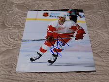 KIRK MALTBY AUTOGRAPHED RED WINGS 8X10 PHOTO W/COA