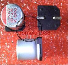 2 pcs New 270UF 16V  271UF16V SMT Radial Electrolytic Capacitor 8*9mm