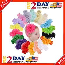 18pcs arcos de pelo Flor de bandas para ninos bebe pelo accesorios cabello