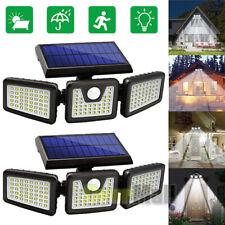 100000LM Solar Lights Motion Sensor, Security LED Waterproof Adjustable 3 head