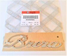 "ALFA ROMEO BRERA  New 100% Genuine "" BRERA "" chrome Badge Emblem 50504885"
