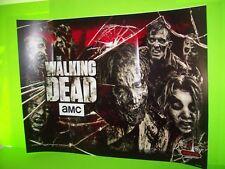 Stern The Walking Dead 2014 ORIGINAL Pinball Machine Translite Artwork (Damaged)