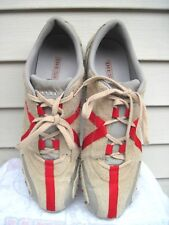 Diesel Hacker Athletic Fashion Sneakers Brown/Gray/Red Leather Size Men's 13 New