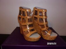 Fergie Footwear Ladies size 7 M Valencia Camel New in box back heel zipper