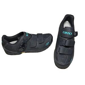 Giro Terraduro MTB Cycling Shoes Mountain Bike Black & Blue Women's Size 8