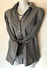 CALVIN KLEIN Black & White Semi-Fitted Shirt Size S *(10-12) Fine Check