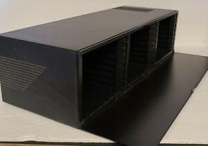 Laserline 24 CD Compact Disc Storage Case Holder Lock & Eject Drop Down Door