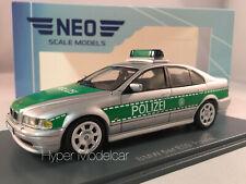 NEO SCALE MODELS 1/43 BMW 5-SERIES 520 E39 POLIZEI 2002 SILVER ART NEO43298