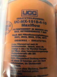 UCC Hydraulic Fluit Elemtn Filter Maxiflow UC-MX-1518-4-10 4330-99-206-2264