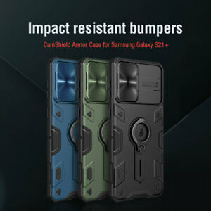 NILLKIN CamShield Armour Slide Case For Samsung Galaxy S21 Plus with Ring Stand