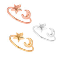 Mujer Anillos Oro Plata Rosa  Anillo Luna Estrella Minúscul Joyería Rings