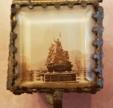 Antique Small Beveled Glass W/Soldiers ? Casket/Trinket Box 2 x 1 3/4